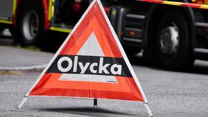 JUST NU: Olycka med flera fordon på riksväg 50