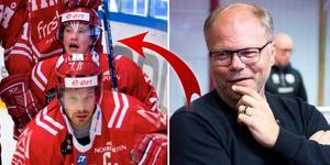 Fredrik Warg (vänster) med sin Easton-klubba under säsongen 06/07. Hör Warg berätta mer om vad