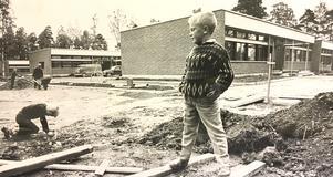 Lillängsskolan på Viksäng 1964. Foto:  VLT:s arkiv