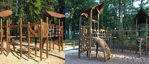 Den nya lekparken ska få ett naturtema och likna den på bilden.(pressbild)