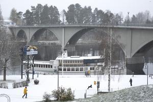 Snöfall i Leksand.