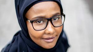 Miljöpartisten Leila Ali Elmi (MP) blev inkryssad till Riksdagen. Foto: Adam Ihse / TT