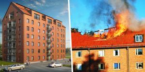 Det var för tio år sedan en fastighet brann på Tuvan men nu återuppstår den i ny, längre skepnad.