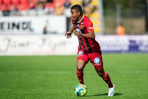 Nebiyou Perry stod för en riktig praktträff till 0–1. Bild: Johan Axelsson (Bildbyrån).