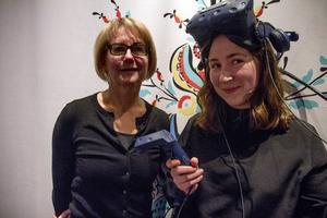 Ingela Broström, länsmuseet och Sofie Notstrand, industridesigner har jobbat med vr-rummet.