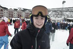 Hannes Lundqvist från Vemdalen satsar mest på slalom och storslalom: – Jag gillar när det går fort, men jag skulle behöva lite mer tyngd för störtlopp.