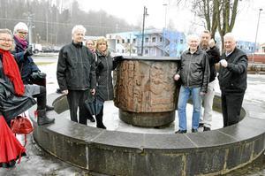 I april i våras protesterade Linde fornminnes- och hembygdsförening mot att i det vinnande förslaget för att bygga om Flugparken  fanns inte Brunnskaret med.Arkivbild: Pelle Råssjö
