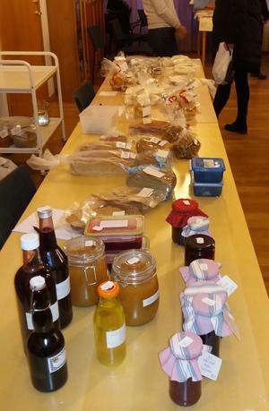 Några av alla fina matprodukter som såldes. Foto: Lars Gustafson