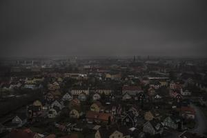 Det stora grå över Örebro fångat på bild av Robban Andersson uppifrån Svampen.