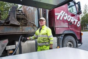 Sven-Erik Hjort från Korsmyrbränna är nöjd med valresultatet.