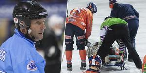 Kasper Milerud var en av alla spelare som drabbades av hjärnskakning under säsongen. Domarbasen Håkan Sjösten ser utvecklingen som