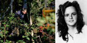 Bild från 2004. Polisen söker vid Ekudden utanför Mariestad efter kroppen efter försvunna Helena Andersson. FOTO: Björn Larsson Rosvall och Erik Follin/TT