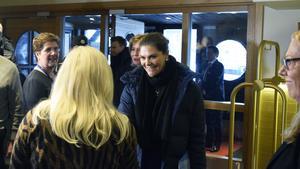 Kronprinsessan Victoria anländer till Folk och Försvars rikskonferens 2019.