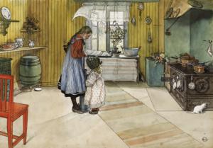 Mat var ett stort intresse för makarna Larsson från Hyttnäs.