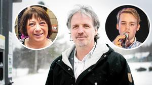 Miljöpartisterna Karin Thomasson, Florian Stamm och Anton Nordqvist.