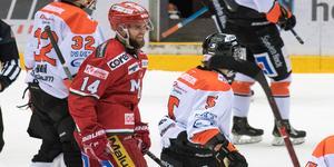 Henrik Björklund fick sista skrattet när han gjorde 5–2 i tom bur. Bild: Jon Häggqvist.