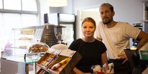 Oscar Roos och Ida Benneborg slog till på kafé Kryddans gamla lokal när de såg en annons på blocket.