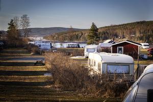 Orbadens camping i Vallsta har över 80 campingplatser.