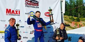 Michael Johansson vann veteranklassen Sveriges största folkracetävling, som avgjordes i Motala. Foto: Privat