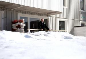 För Gunnar Backéus i Matfors hade det vid en eventuell försäljning varit svårt att ge en rättvis bild av uteplatsen.
