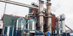 Här vid Stora ensos fabrik i Skutskär hittades chauffören död bredvid sin tankbil.