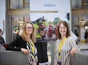 Cecilia Jansson och Tatiana Summermatter på Visit Dalarna är på plats i Berlin för att knyta kontakter och skapa intresse för Dalarna. Foto: Thomas Kolbein Bjørk Olsen