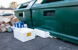 Nedskräpning vid återvinningsstationen på Verkstadsskolevägen är ett återkommande problem, enligt Mikael Edenqvist, ansvarig på FTI.