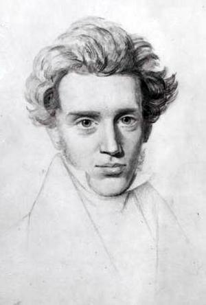 Søren  Kierkegaard 1840. Teckning av Neils Christian Kierkegaard.