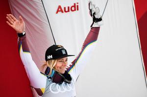 Frida Hansdotter med nytt guld i  slalom på SM-veckan.  Bild: TT
