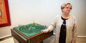 Gun Back vid farfar Eriks hästspel, en av de tidigaste sakerna som fanns på Björkmans tivoli.