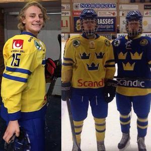 Albin i Svenska U17-landslaget. FOTO: Privat