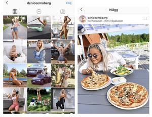 Från Denice Mobergs instagramkonto. Här delar hon bilder, videor och tankar från sin vardag med träning, sonen Vince och sina besök i Kramfors och Höga kusten. Foto: screenshot Denicemoberg