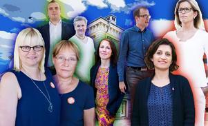 Helene Åkerlind, L, Mattias Eriksson Falk, SD, Margaretha Wedin, C, Jan Myléus, KD, Therese Metz, MP, Patrik Stenvard, M, Gin Akgul Hajo, V, Åsa Wiklund Lång, S.