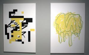 Jakob Ojanen skapar sina målningar i en mobilapp.