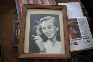 En gammal bild av Astrid som ung.
