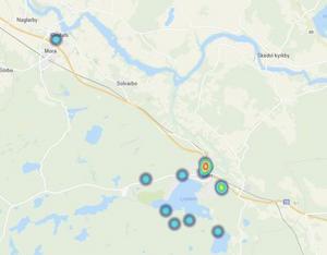 Här har 15 inbrott inträffat i Säter hittills i år. Ju rödare det är på kartan, desto fler inbrott i just det området. Karta: Polisen