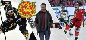 Oliver Erixon är ett av många nyförvärv som bara skrivit ettårskontrakt med Mora IK. Emil Bejmo, till höger, är en av de få spelare som hade ett gällande kontrakt när Mora åkte ut. I mitten: Peter Iversen