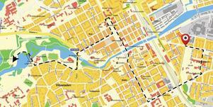 Prideparaden ställer upp vid Stenebergsparken och går sedan genom Gävle för att nå fram till Boulognern.
