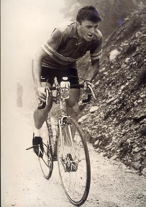 Sven Hamrin mot passagen över  Grossglockner under Österrike runt 1963. Foto:Privat