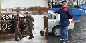 Olle Nielsen körde Stock Car i Jämtland och Härjedalen från 1957 till 1959. Här ser ni honom med 60 års mellanrum (till höger brevid Stig Lundstedt på den gamla bilden) Foto: Privat
