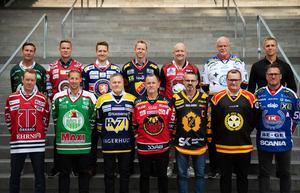 Samtliga SHL-tränare samlades under tisdagen för upptaktsträff i Stockholm. Bild: Bildbyrån