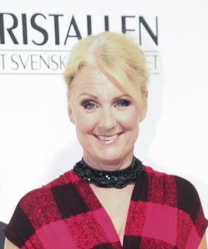 Elisabet Frerot vid TV-branschens  prisgala Kristallen i fjol. Arkivfoto: Sören Andersson/TT