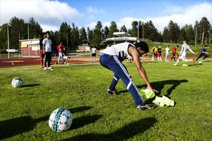 Ett 20-tal ungdomar kom på träningen som Gottne IF arrangerat.