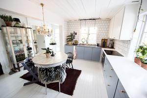 Köket var det första rum som Jennie och Jon gjorde i ordning efter husköpet, 2012.
