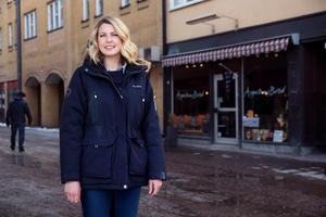 Therese Vesterholm bor ovanpå sin nya arbetsplats. Smidigt för en bagare som börjar arbetsdagen tidigt.
