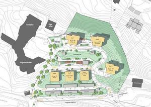 Planen för hur området vid Folkets park är tänkt att bebyggas. Totalt 176 bostadsrätter planeras på platsen. Bild: Sundsvalls kommun