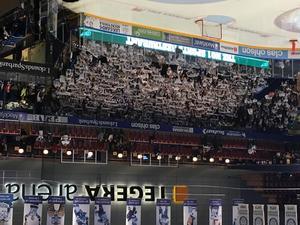 Leksands supportrar i Tegera Arena.