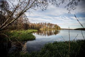 Falun och Borlänge är i slutfasen med att fram en plan för hur Runn-området bör utvecklas på  20 års sikt. Här en vy från en strandkant i Falun.