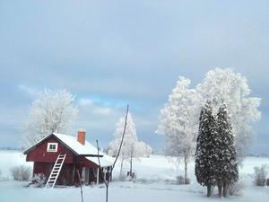 Bilden är från förra året och utsikten är inifrån mitt fönster i Isätra. Foto: Pernilla Norling