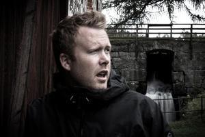 Fredrik Hallberg, resenär på bussen som strandade på E4. Foto: Privat.